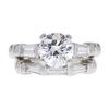 1.51 ct. Round Cut Bridal Set Ring, D, SI1 #3