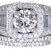 1.53 ct. Round Cut Bridal Set Ring #3