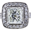 1.01 ct. Princess Cut Halo Ring, K, VS1 #1