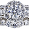 0.51 ct. Round Cut Bridal Set Ring, H, SI1 #4