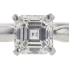 1.0 ct. Asscher Cut Solitaire Ring, G, VS1 #4