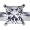 1.54 ct. Princess Cut Bridal Set Ring, I, SI2 #4