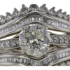 1.90 ct. Round Cut Bridal Set Ring #4