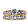 0.56 ct. Round Cut Bridal Set Ring, H, VS1 #3