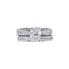 1.56 ct. Cushion Modified Cut Bridal Set Ring, J, VS1 #3