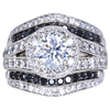 1.01 ct. Round Cut Bridal Set Ring, E, SI2 #3