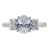 0.97 ct. Oval Cut 3 Stone Ring, F, I1 #3