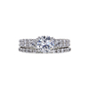 1.00 ct. Round Modified Brilliant Cut Bridal Set Ring, G, SI2 #3