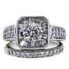 1.02 ct. Round Cut Bridal Set Ring, M-Z, VS2 #2