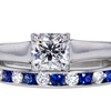 1.02 ct. Cushion Cut Bridal Set Ring #2