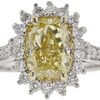 2.31 ct. Cushion Cut Halo Ring, Fancy, SI2-I1 #3