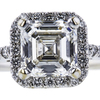 1.53 ct. Asscher Cut Halo Ring, G, VVS2 #4