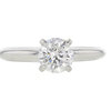 0.99 ct. Round Cut Solitaire Ring, F, I1 #3