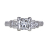 1.17 ct. Princess Cut Solitaire Ring, F-G, VS2-SI1 #1