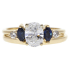 1.0 ct. Oval Cut Bridal Set Ring, E, I1 #3
