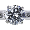 1.28 ct. Round Cut Bridal Set Ring, H, VS1 #4