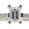 1.01 ct. Emerald Cut Bridal Set Ring, E, VVS2 #4