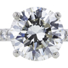 3.14 ct. Round Cut Solitaire Ring #4