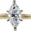 1.24 ct. Marquise Cut Bridal Set Ring, J, SI2 #4