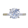 3.28 ct. Round Cut Solitaire Ring, I, I3 #2