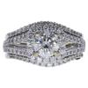 1.2 ct. Round Cut Bridal Set Ring, I-J, I2 #2