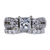 0.97 ct. Princess Cut Bridal Set Ring, G, SI2 #3