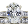 1.70 ct. Oval Cut Bridal Set Ring, I, SI1 #4