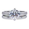 1.35 ct. Round Cut Bridal Set Ring, F, VS2 #3