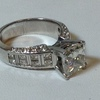 3.02 ct. Princess Cut Bridal Set Ring #3