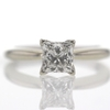 1.12 ct. Princess Cut Bridal Set Ring #3