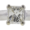 1.06 ct. Princess Cut Solitaire Ring, H, VS1 #4