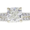 2.01 ct. Cushion Cut Bridal Set Ring, J, SI1 #4