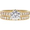 1.01 ct. Round Cut Bridal Set Ring, F, I1 #3