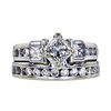 0.91 ct. Radiant Cut Bridal Set Ring, G, I1 #3