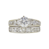 0.94 ct. Round Cut Bridal Set Ring, H, SI2 #3