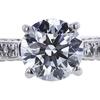 1.09 ct. Round Cut Bridal Set Ring, F, VS2 #4