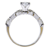 0.77 ct. Princess Cut Bridal Set Ring, G, VVS2 #3