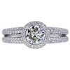 1.01 ct. Round Cut Halo Ring, J, SI2 #1