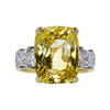 10.79 ct. Cushion Cut 3 Stone Ring, Yellow, SI1 #3