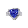 9.07 ct. Triangular Cut Ring, Blue, VS1-VS2 #1