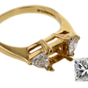 1.09 ct. Princess Cut 3 Stone Ring #4