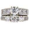 0.8 ct. Round Cut Bridal Set Ring, H, I1 #3