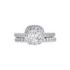 0.96 ct. Round Cut Bridal Set Ring, J, SI2 #3