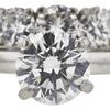 1.09 ct. Round Cut Bridal Set Ring, H, VS1 #4