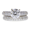 1.5 ct. Round Cut Bridal Set Ring, F, I1 #3