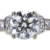 1.11 ct. Round Cut Bridal Set Ring, J, I1 #4