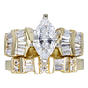 1.25 ct. Marquise Cut Bridal Set Ring, G, SI2 #3