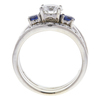 1.2 ct. Round Cut Bridal Set Ring, I-J, I3 #2