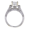 0.98 ct. Princess Cut Bridal Set Ring, F-G, I1 #3