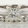 0.75 ct. Princess Cut Bridal Set Ring #1